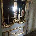 вставка в двери (зеркало бронза + пескоструй + покраска + триплекс)