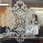12 Зеркало серебро с пескоструйным рисунком