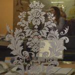 13 Зеркало бронза с пескоструйным рисунком