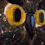 Фьюзинг-СОВА-декор-на-зеркале 500*850 мм