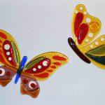 Бабочки цветные. Декор. Фьюзинг.