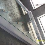 Лестничное ограждение, стекло каленое