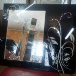 Зеркало+лакобель+стразы 600-510