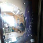 Зеркало 1000*700 мм. декоративное с цветной вставкой, объемными элементами и металлической протяжкой. Цена 6 300 руб.